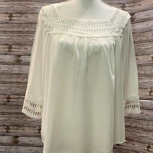 MAIN STRIP Top with Cut Out Neckline & Sleeve